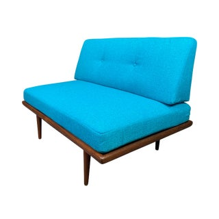 Vintage Danish Mid Century Modern Teak Daybed Loveseat by Peter Hvidt For Sale