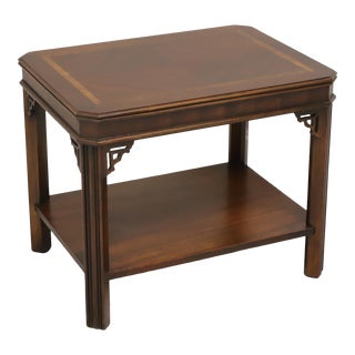 Lane Mid Century Inlaid Walnut End Side Table 988 05 For Sale