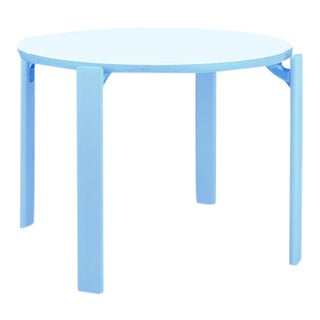 1971 Dietiker Rey Jr Table in Blue - The Children Version of the Iconic Rey (Swiss Design) For Sale