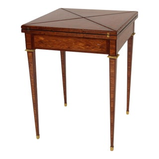 Signed Louis XVI Style Napkin Fold Games Table For Sale