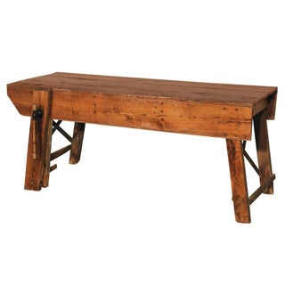 Primitive Industrial Workbench Table