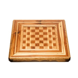 Lawrence & Scott Master Series Custom Reclaimed Wood Chess Board For Sale