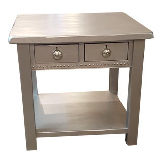 Hand Painted Silver Side Table