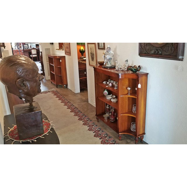 Pair of Sheraton Style Open Bookcases For Sale - Image 10 of 11