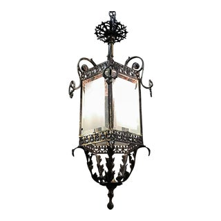 19th Century French Bronze Baroque Revival Lantern Chandelier For Sale