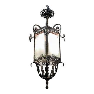 19th Century French Bronze Baroque Revival Lantern Chandelier