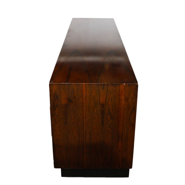 Mid Century Rosewood Dresser Milo Baughman Style For Sale In Baltimore - Image 6 of 10