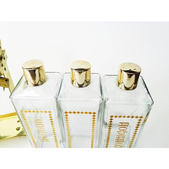 Mid Century Brass Locking Decanter Set For Sale In San Francisco - Image 6 of 6