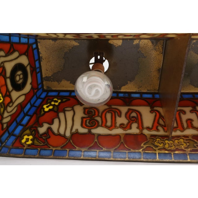 Tiffany Stained Glass Style Billiard Pool Table Hanging