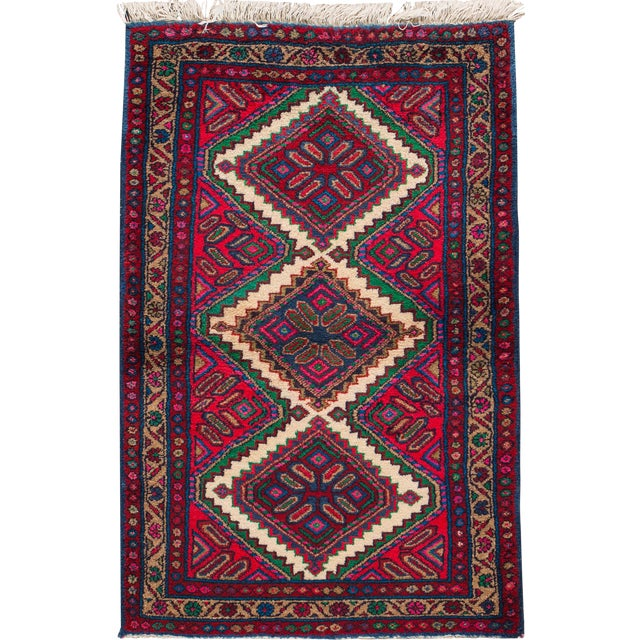 "Apadana - Vintage Persian Hamadan Rug, 2'8"" x 4'4"" For Sale"
