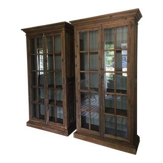 Vintage Rustic Style Bookshelves - a Pair