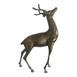 Brass Deer Figurine For Sale