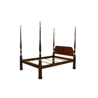 20th Century Traditional High End Mahogany Queen Size Four Poster Rice Bedframe For Sale