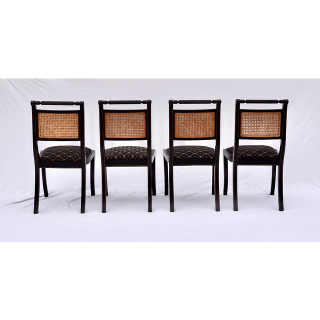 Regency Double Caned Dining Chairs Made in Italy, Set of 8 For Sale - Image 12 of 13