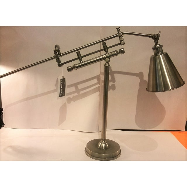Metal Architectural Lamps - Pair - Image 2 of 3