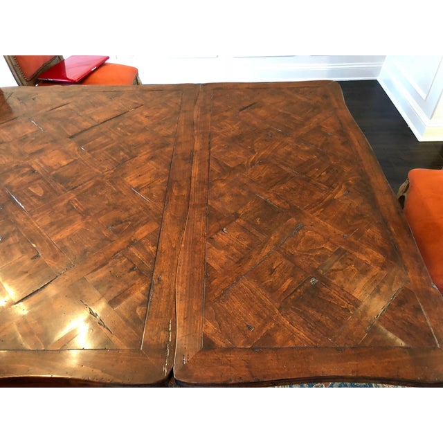 French Provencale Style Parquet Dining Table For Sale - Image 4 of 12