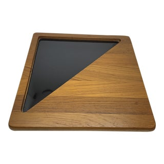 Mid Century Georges Briard Teak Cheese Board For Sale