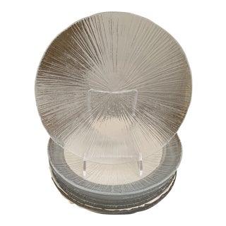 1970s Vintage Sasaki Rain Modernist Japanese Vintage Glass Plates - Set Of 8 For Sale