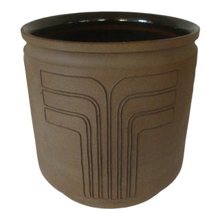 Huge Studio Pottery Planter Pot After David Cressey Robert Maxwell For Sale