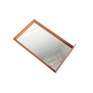Danish Modern Teak Mirror With Shelf For Sale