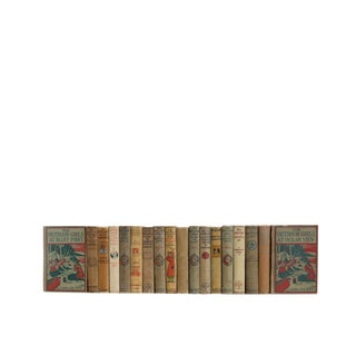 Vintage Weathered Stories for Girls : Set of Eighteen Decorative Books