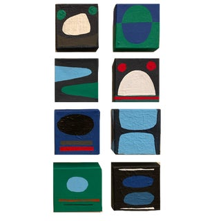 Original Abstract Paintings by Brooks Burns - Set of 8 For Sale