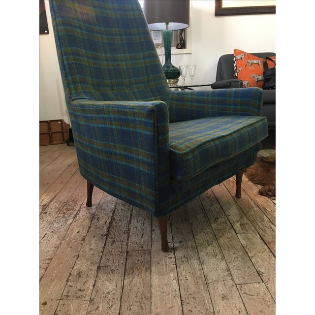 Paul McCobb Symmetric Group Plaid Chair For Sale - Image 5 of 5