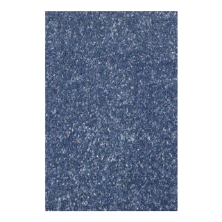 SOLID PLAIN DENSE RUG BLUE 6'8''X 10'