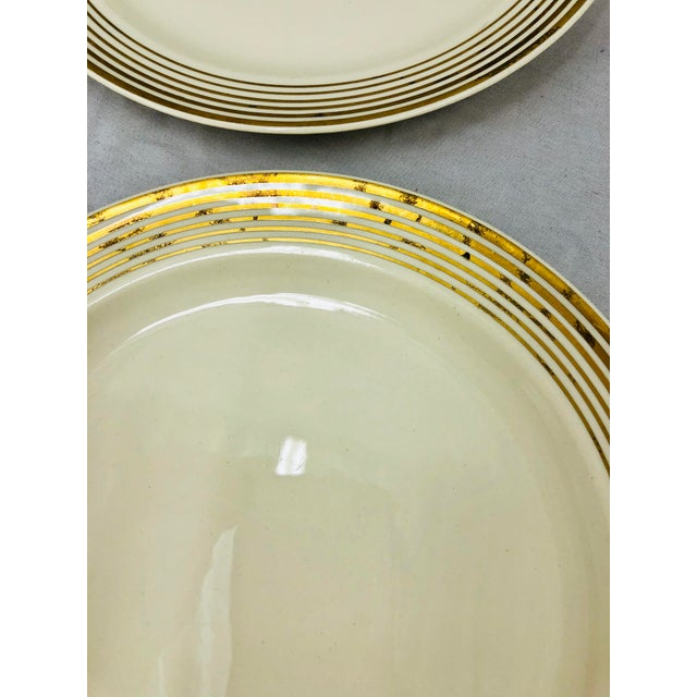 Vintage Taylor Smith Gold Rimmed Dinner Plates - Set of 6 For Sale In Raleigh - Image 6 of 11