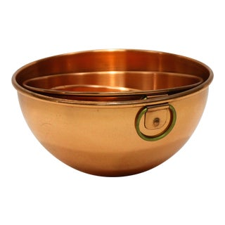 French Copper Mixing Bowls - Set of 3