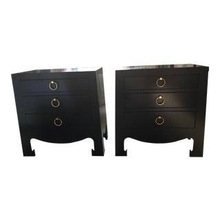 Bungalow 5 Jacqui Black Side Tables - A Pair For Sale