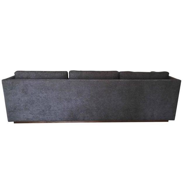 "Thayer Coggin Milo Baughman for Thayer Coggin ""Floating"" Tuxedo Sofa For Sale - Image 4 of 6"