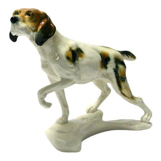 1940s Karl Ens Sporting Dog Porcelain Figurine For Sale