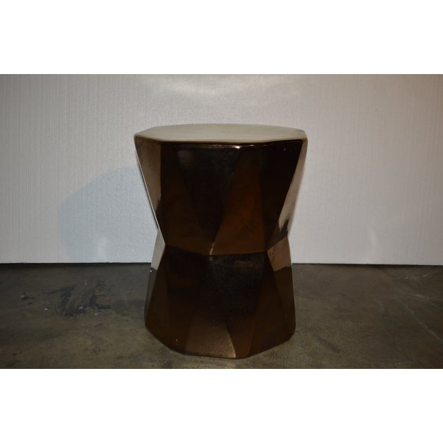 Gold Geometric Side Table - Image 4 of 4