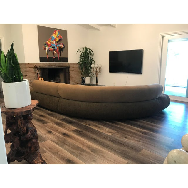 Modern 1990s Sculptural Post Modern Curved Italian Sectional For Sale - Image 3 of 11