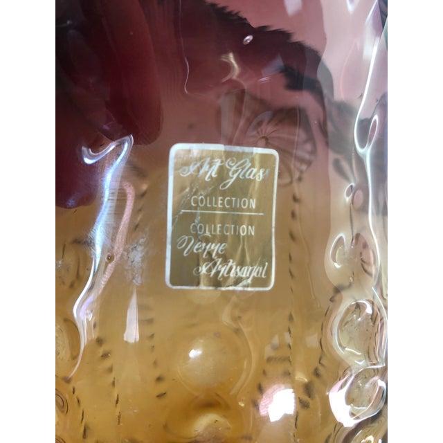 Glass Vintage Art Glass Owl Vase For Sale - Image 7 of 9
