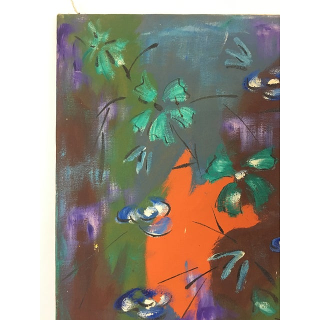 1960s Vintage Original Haitian Floral Still Life Oil Painting by Listed Artist Paul Beauvoir For Sale In Washington DC - Image 6 of 13