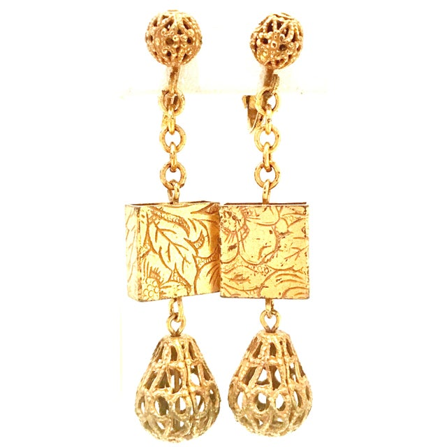 20th Century Art Nouveau Gold Book Chain Choker Style Necklace & Earrings - Set of 3 For Sale - Image 10 of 13