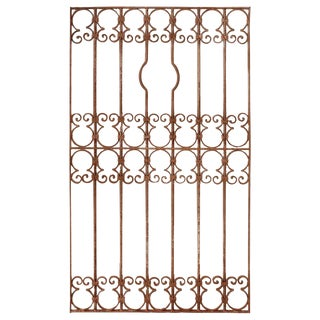 Spanish Wrought Iron Window Grill or Gate For Sale