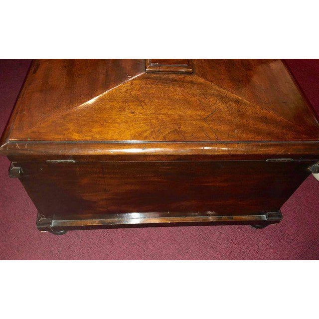 Rococo 19th Century Rosewood Rococo Carved Dowry Chest Lead Lined For Sale - Image 3 of 13