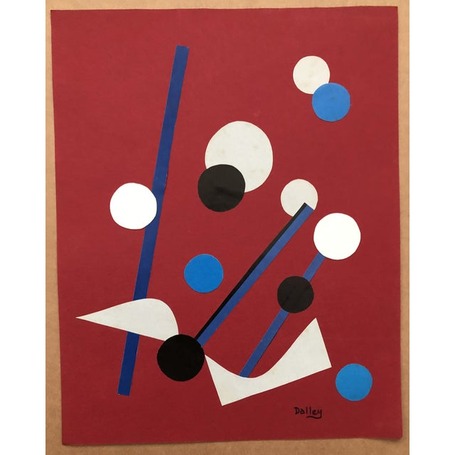 Abstract Jazz Collage by Dalley 1970s For Sale - Image 3 of 5