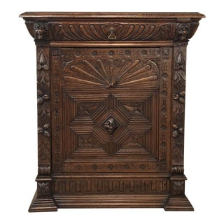 19th Century Flemish Renaissance Cabinet For Sale