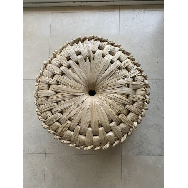 Handcrafted palm woven seagrass tule stool/ottoman by Luteca Furniture. From a craft object to relevant design, this...