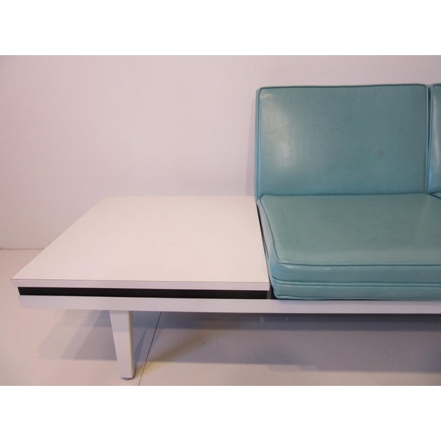 Mid 20th Century George Nelson Steelframe Two Place Sofa With Side Table by Herman Miller For Sale - Image 5 of 7