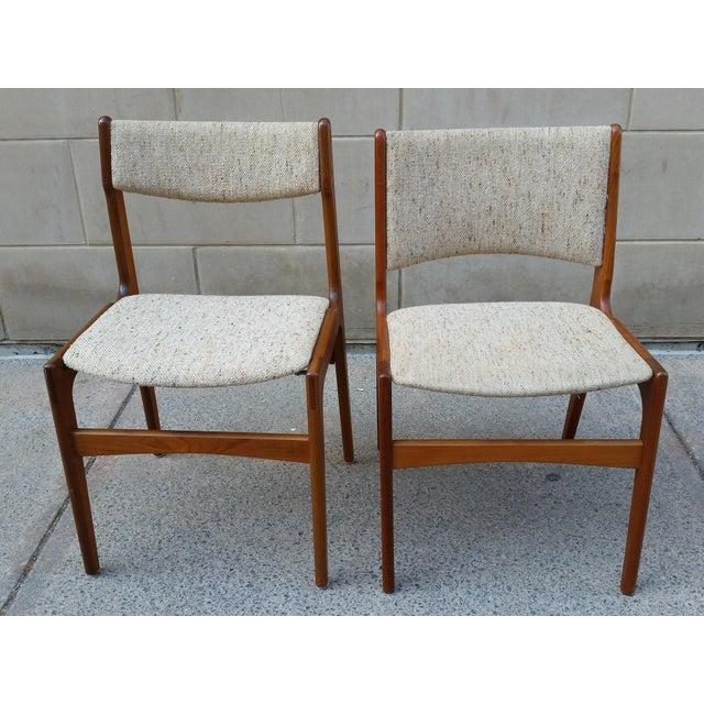 Danish Modern Teak Dining Chairs - A Pair - Image 3 of 7