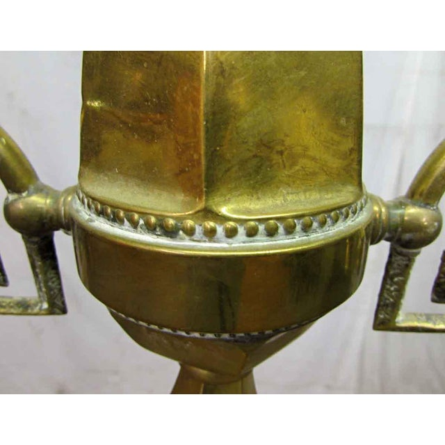 Turn of the Century Brass Standing Lamp For Sale - Image 4 of 9
