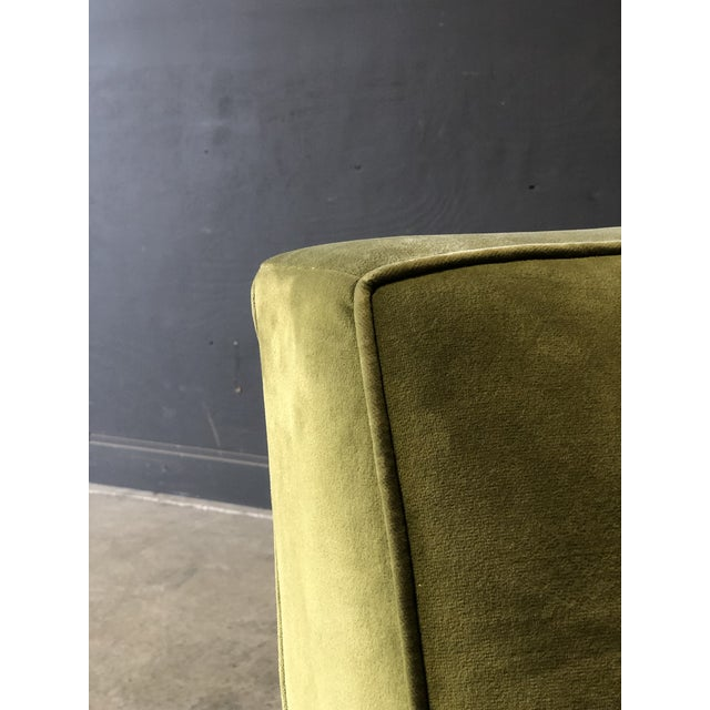Textile Vintage Velvet Green Sectional For Sale - Image 7 of 10