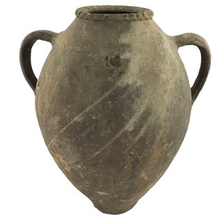 Vintage Turkish Amphora | Mediterranean Earthenware
