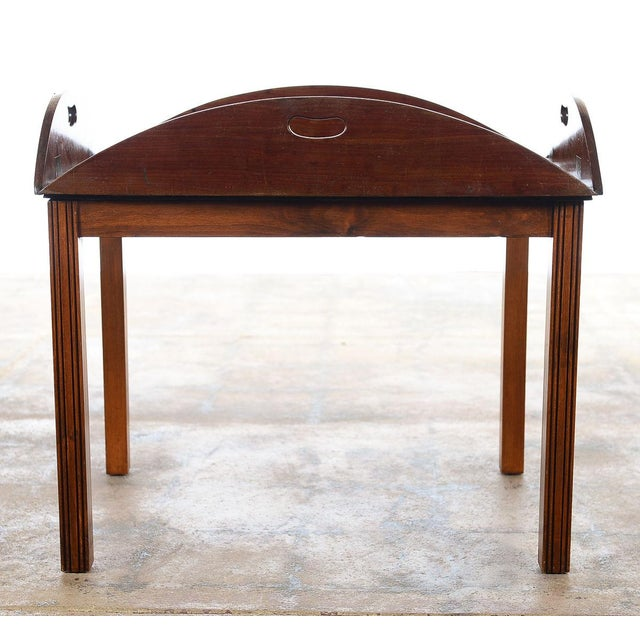 18th century Georgian mahogany butler's tray table with stand.