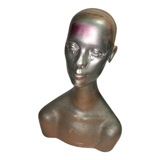Silver Mannequin Head For Sale